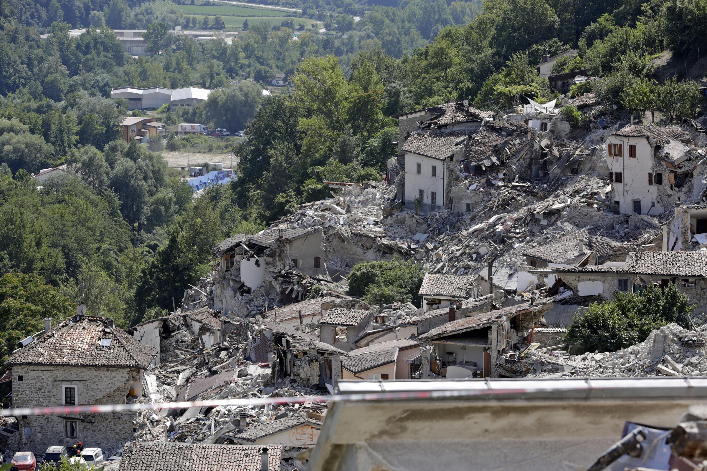 Pescara del Tronto, un paese raso al suolo