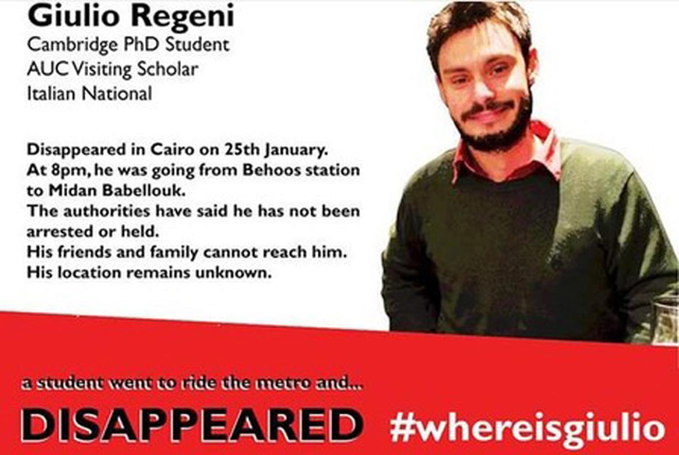 Giulio Regeni, il ragazzo trovato morto in Egitto