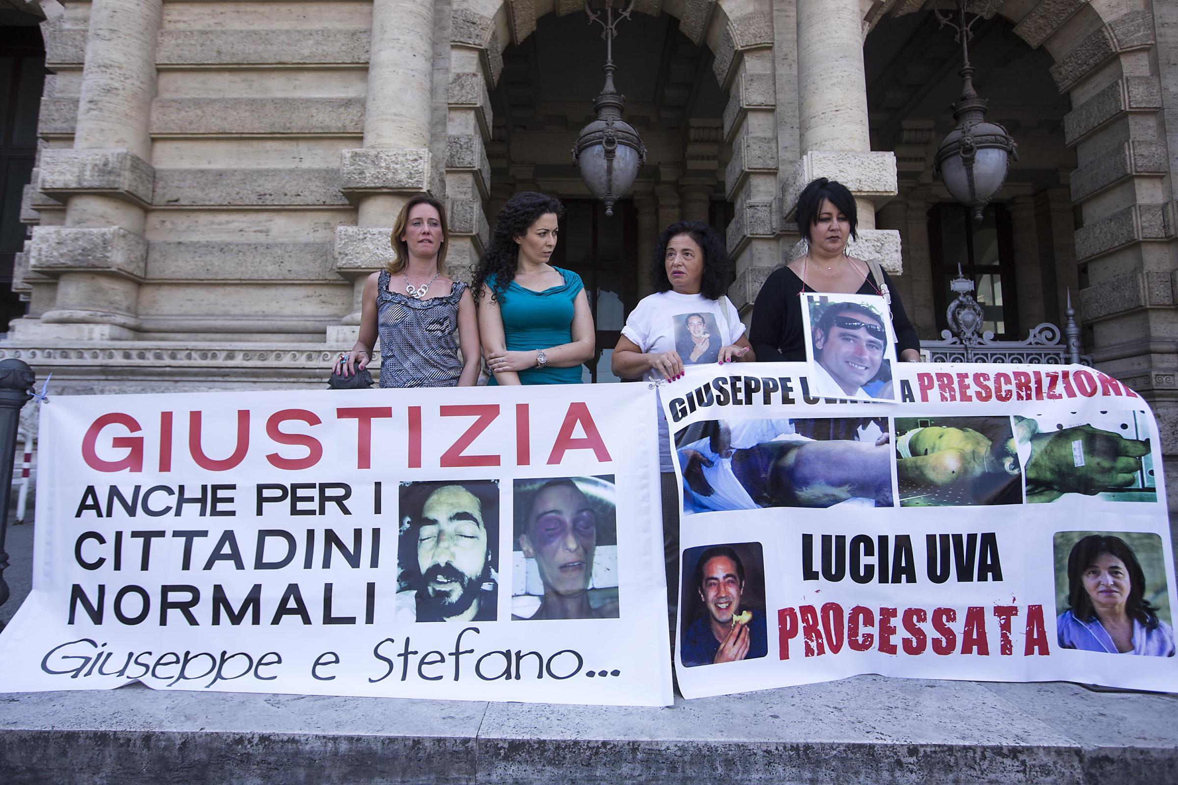 Cassazione, Sit in parenti vittime di maltrattamenti durante la detenzione