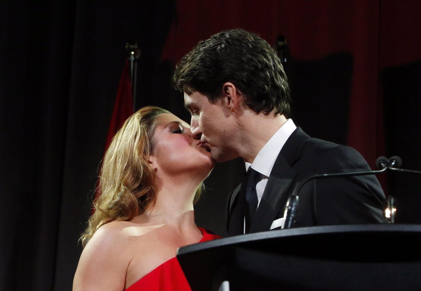 Justin Trudeau con la moglie Sophie ad Ottawa
