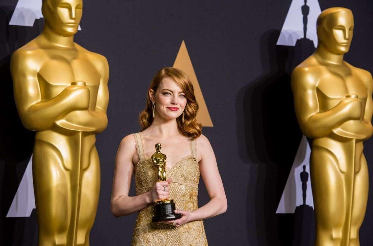 Oscar 2017 Casey Affleck e Emma Stone hanno vinto il premio come attore e attrice protagonista