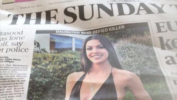 La figlia del killer di Londra Masood rinnega il padre: Teegan dice no al burqa
