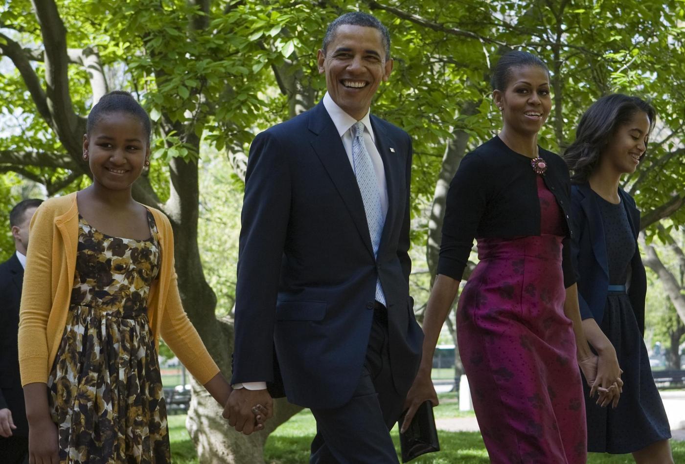 La famiglia Obama il giorno di Pasqua