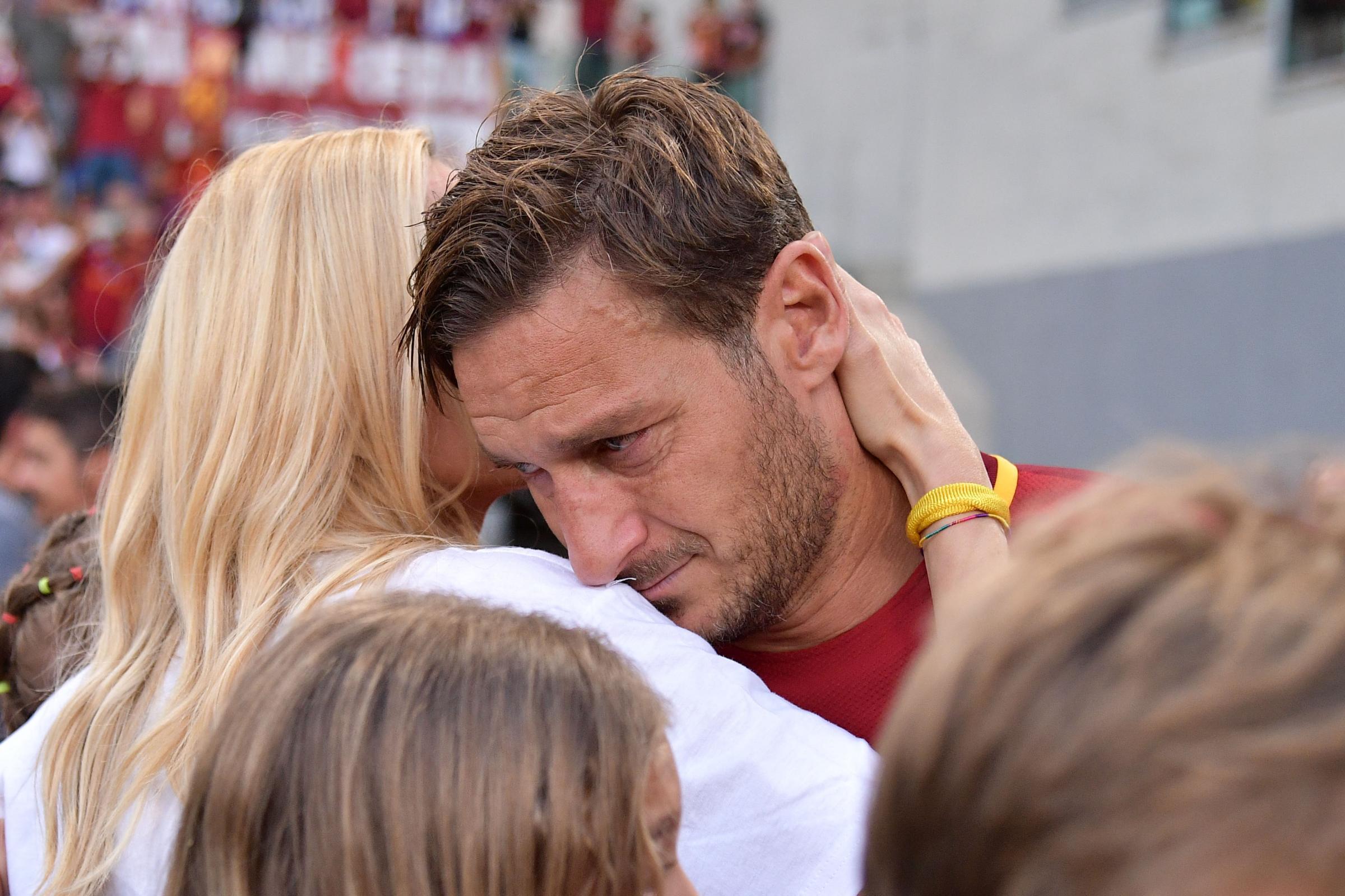 Stadio Olimpico di Roma, l'addio di Francesco Totti al calcio giocato
