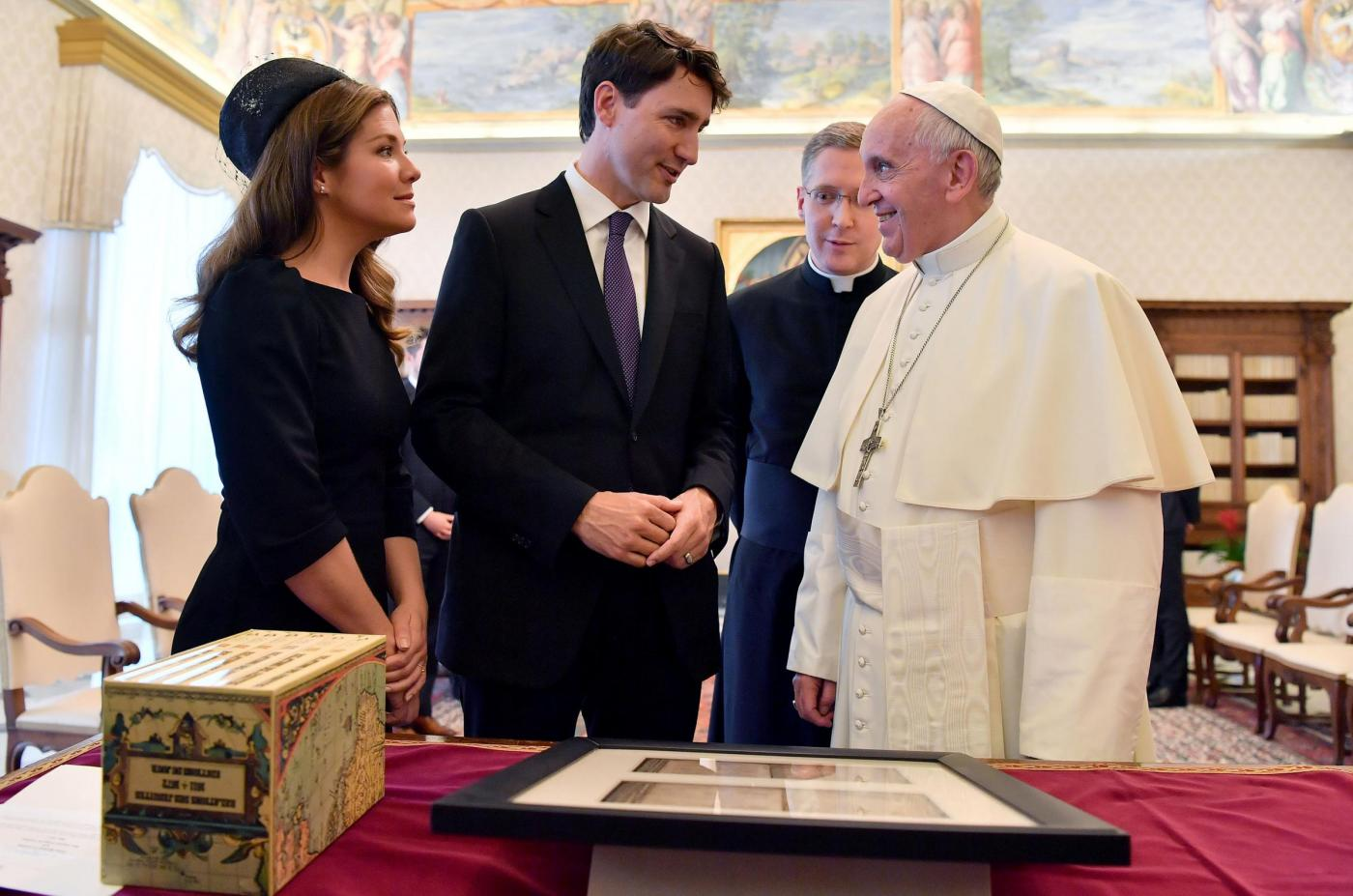L'arrivo del premier canadese Justin Trudeau all'udienza privata con Papa Francesco