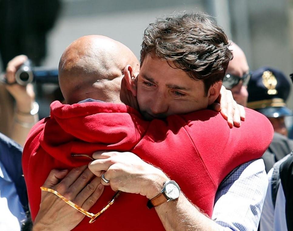 Il premier canadese Trudeau in visita ad Amatrice