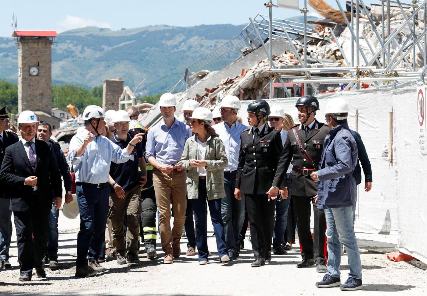 Justin Trudeau ad Amatrice per le vittime del terremoto