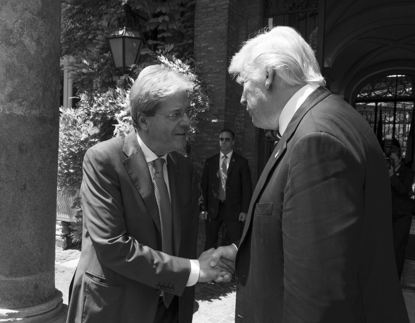 Il Presidente Paolo Gentiloni incontra Donald Trump a Villa Taverna.