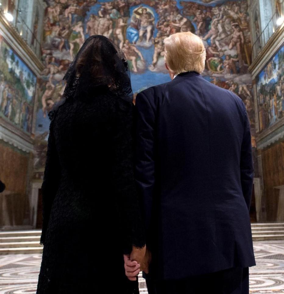 Donald e Melania Trump in Vaticano