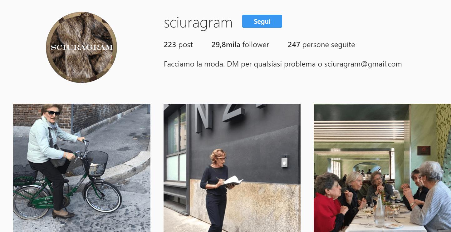 sciuragram instagram milano