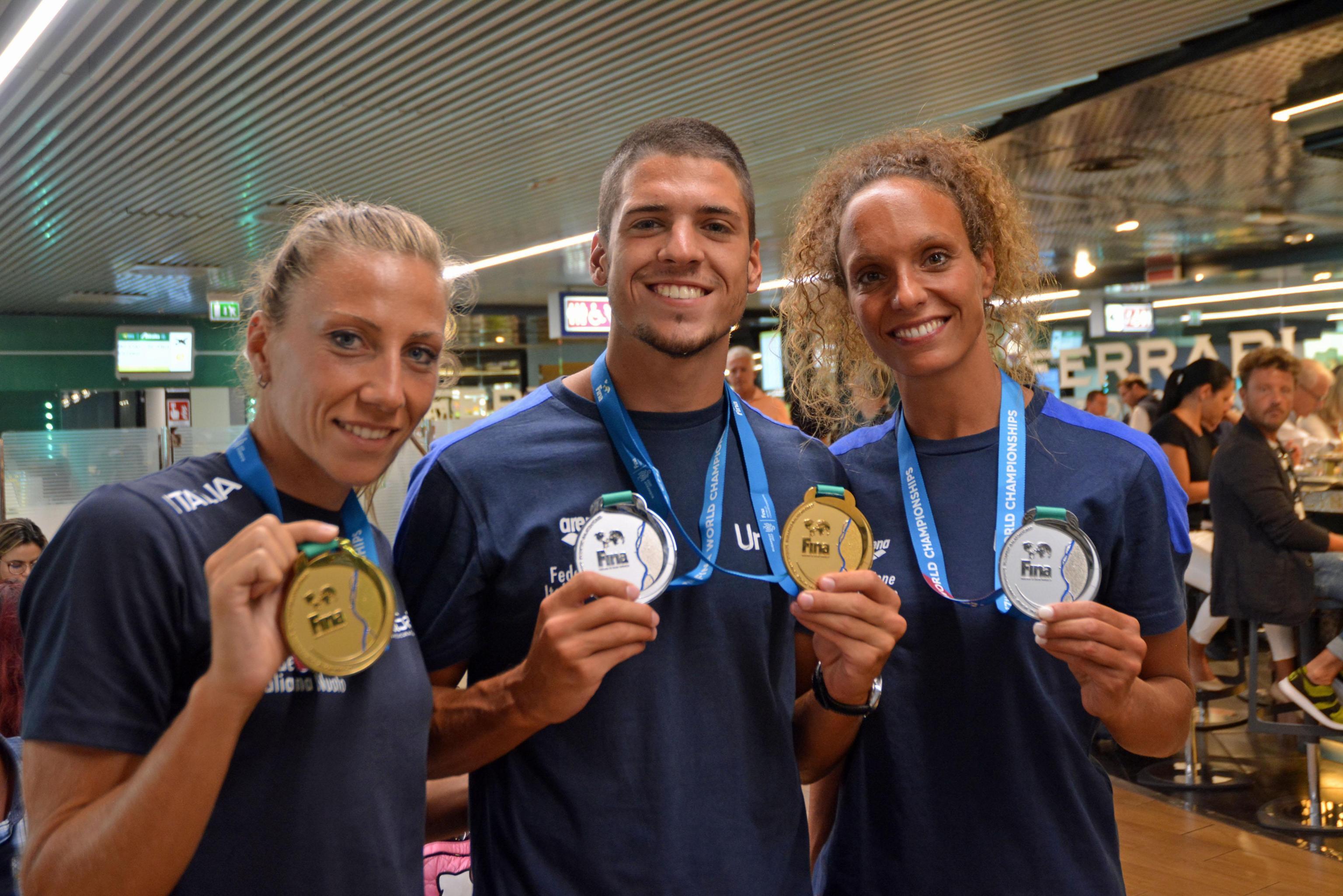 Nuoto: mondiali; rientro trionfale per azzurri sincro