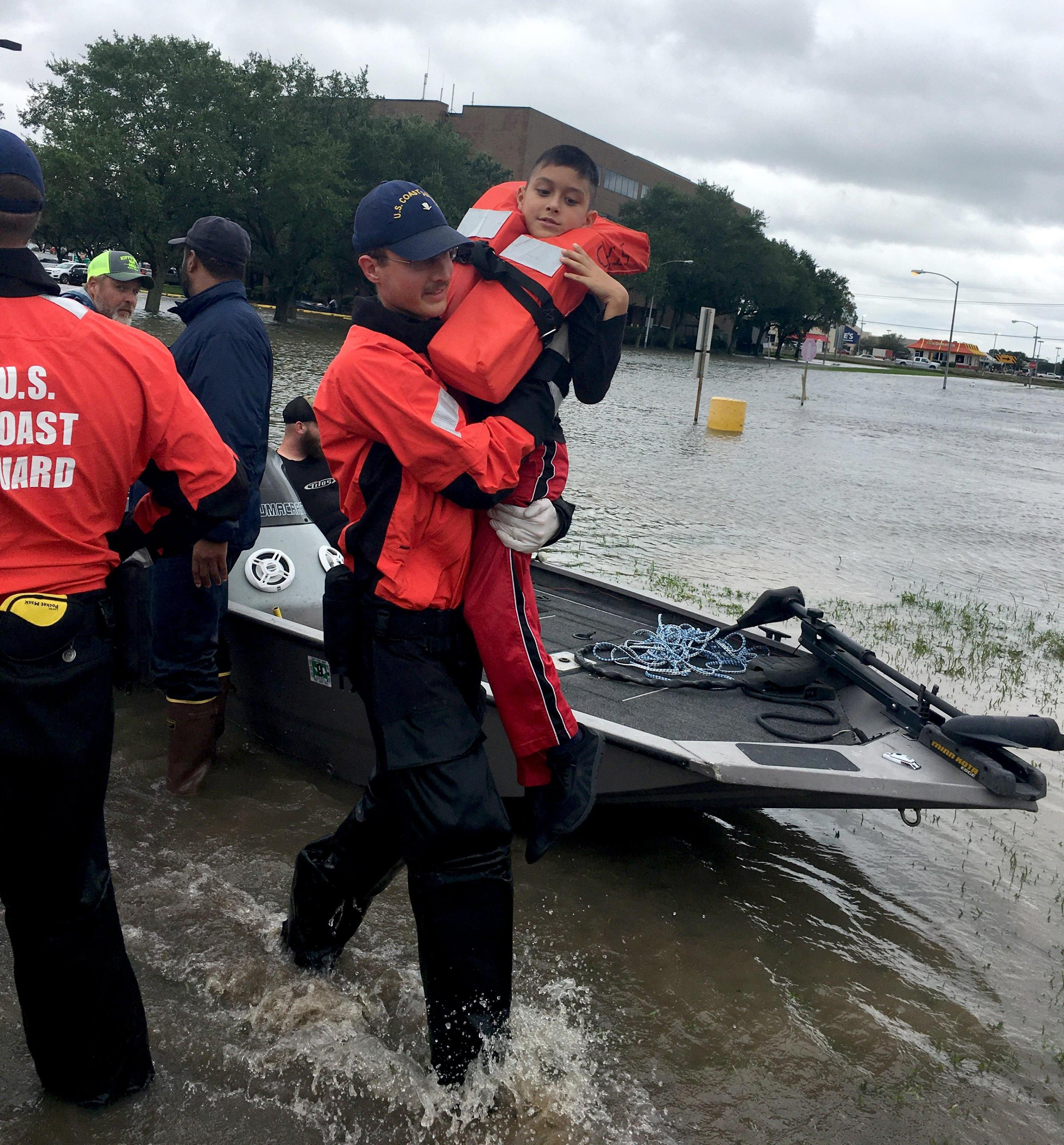 Coast Guard conducts search and rescue in response to Hurricane Harvey