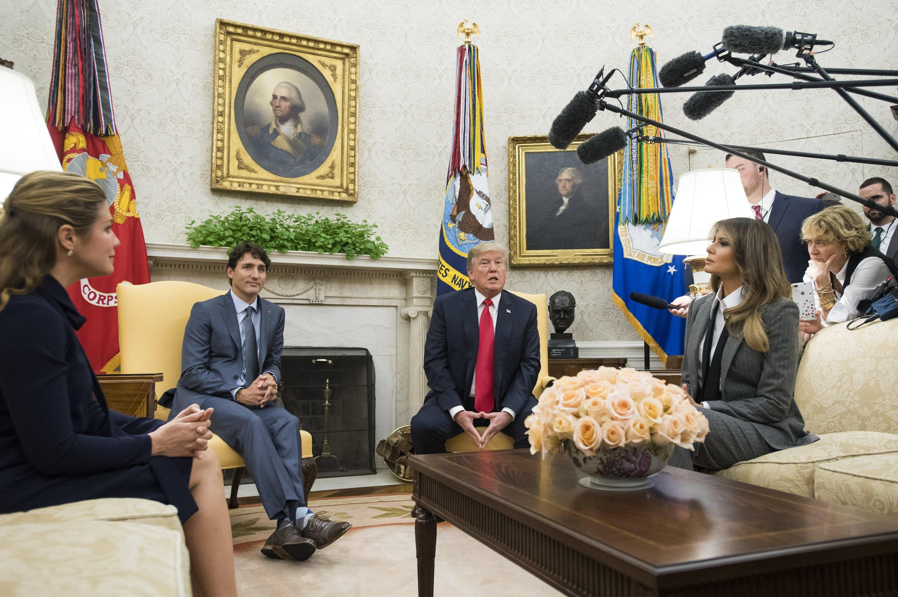 US President Donald J. Trump hosts Prime Minister of Canada Justin Trudeau