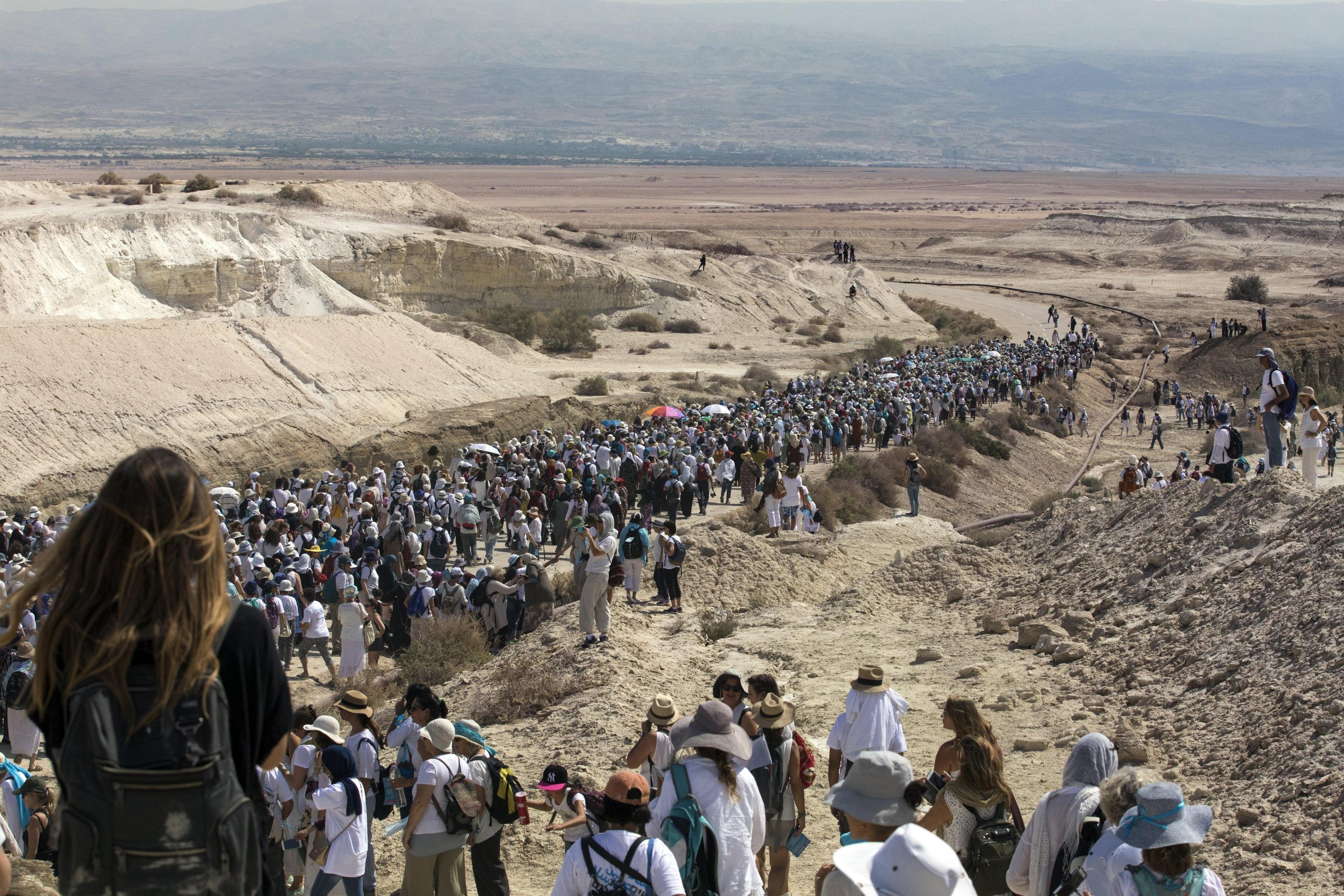 Women Wage Peace march in Beit HaArava in Jordan Valley