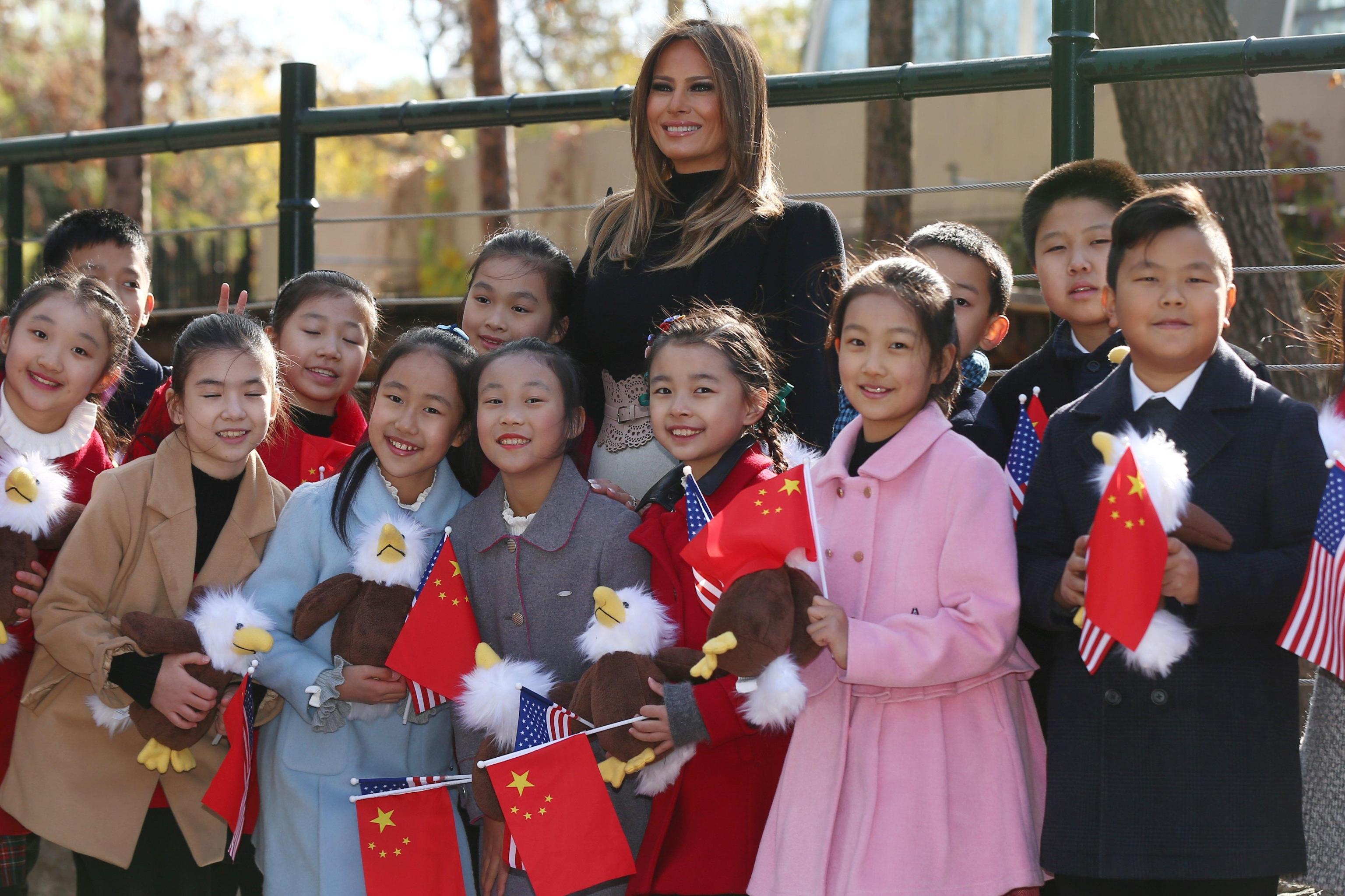 US President Donald J. Trump and First Lady Melania visit China
