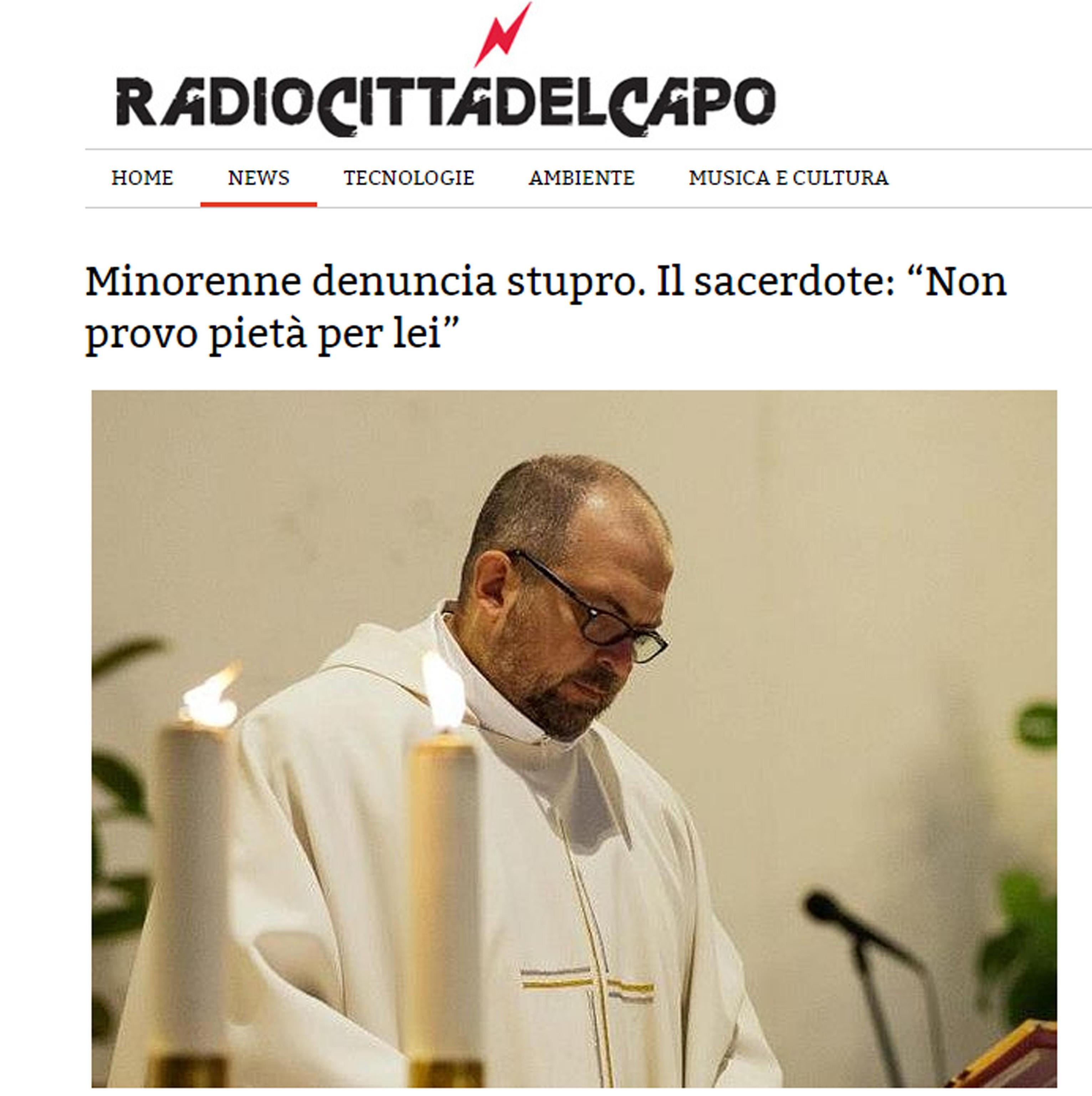 Bologna, minorenne stuprata. Commento shock del parroco: 'Te la sei cercata'