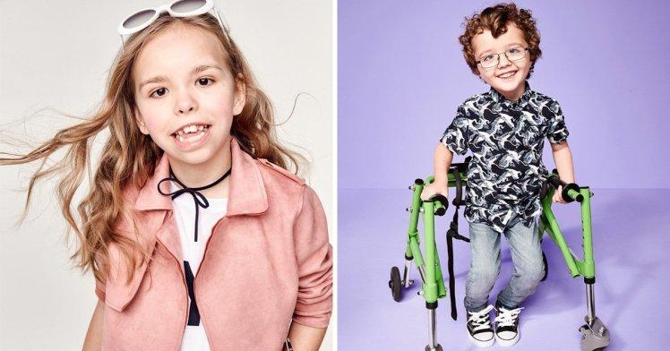 River Island lancia una campagna pubblicitaria con bambini disabili