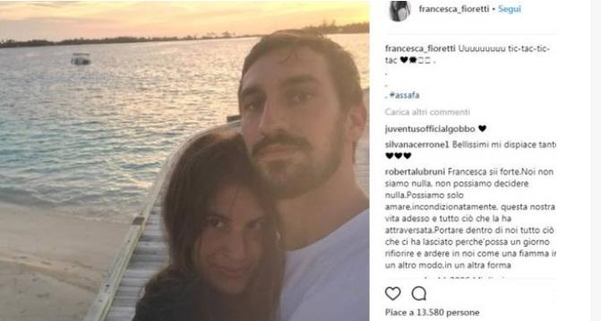 Morto Davide Astori messaggi di Francesca
