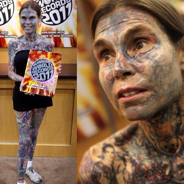 donna piu tatuata del mondo