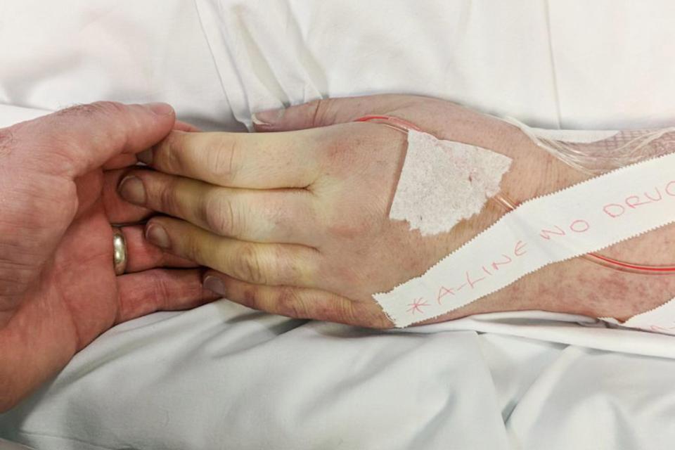 Natalie Billigham ricoverata in ospedale