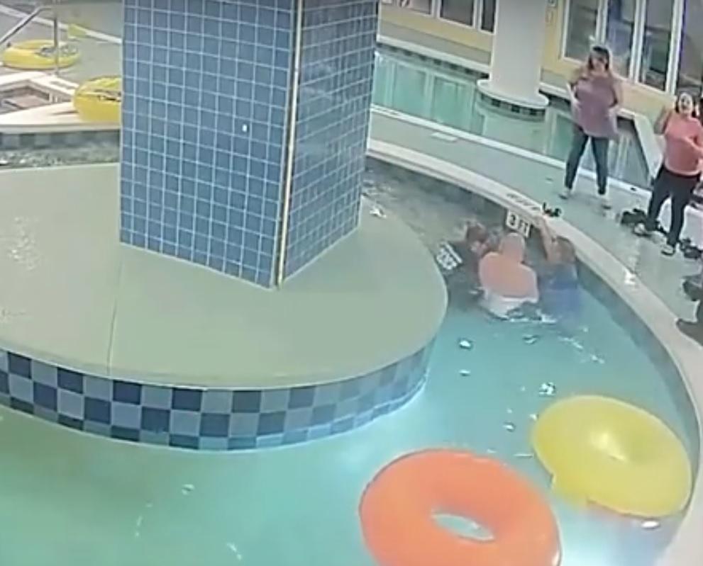 Bambino resta intrappolato sott'acqua per 9 minuti: il video del salvataggio