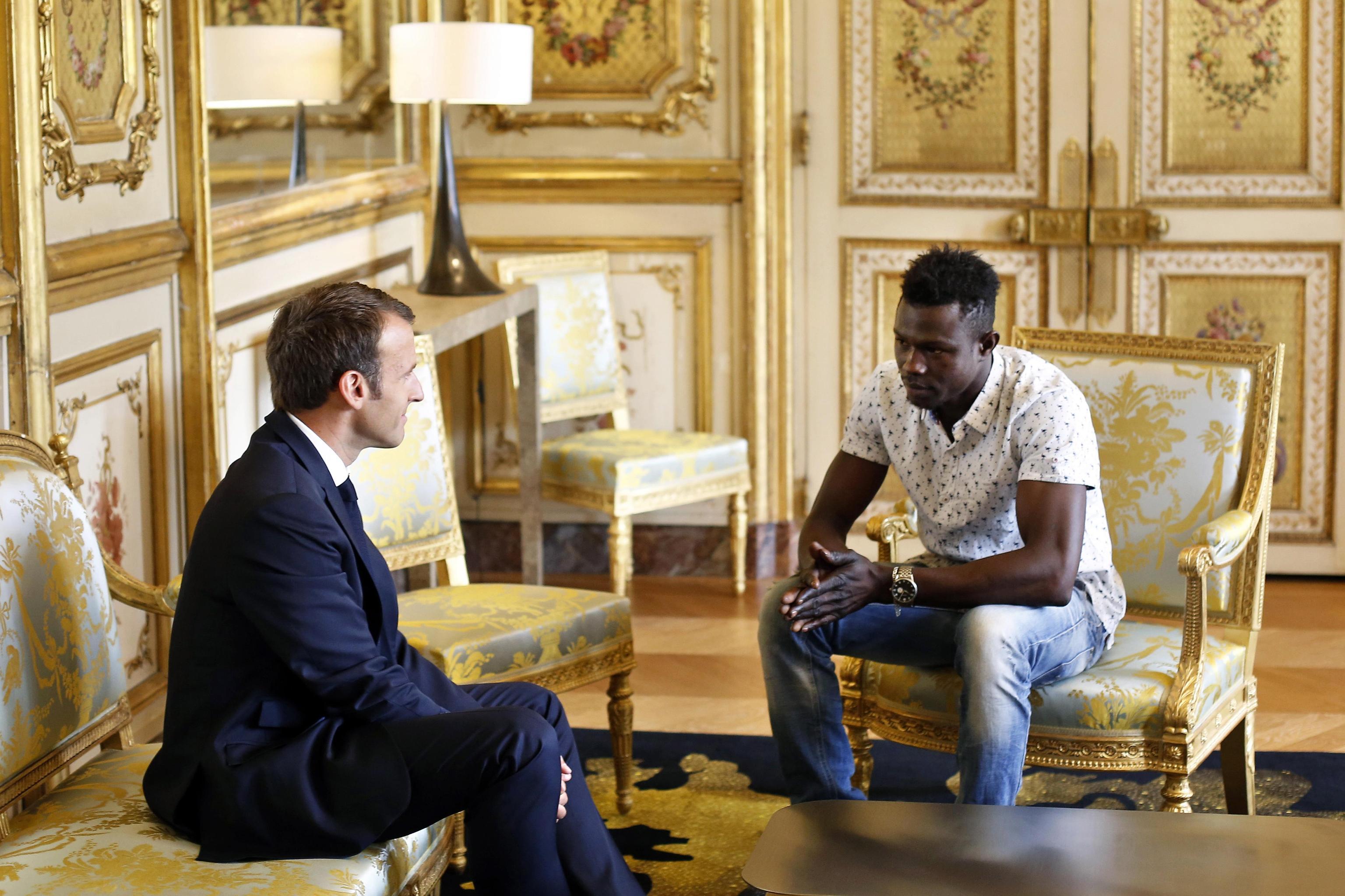'Spider Man' Mamoudou Gassama at Elysee Palace