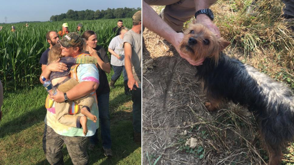 bimba 3 anni persa cane salv