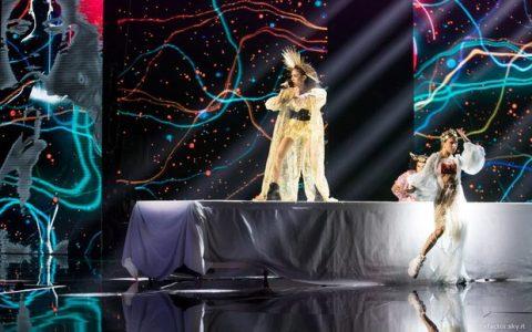xfactor sul palco Luna