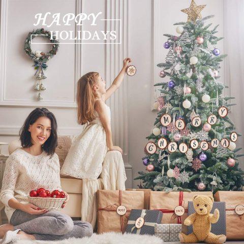 Decorazioni albero di Natale in legno
