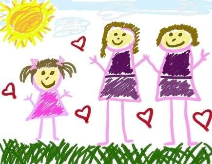 I bimbi delle coppie formate da sole donne sono meno depressi