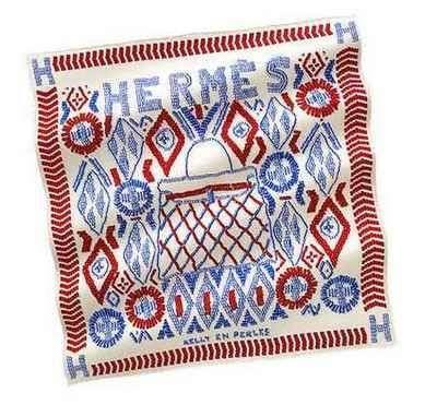 Foulard Perles Hermès con Kelly Bag
