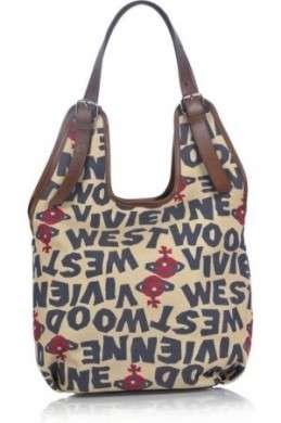 Borse Vivienne Westwood: Stoneage canvas hobo bag