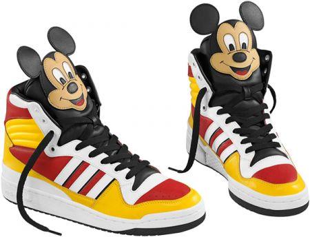 Sneakers Adidas Originals by Jeremy Scott con Topolino