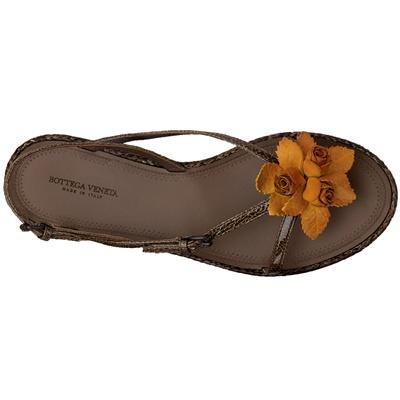 bottega veneta sandali fiore giallo