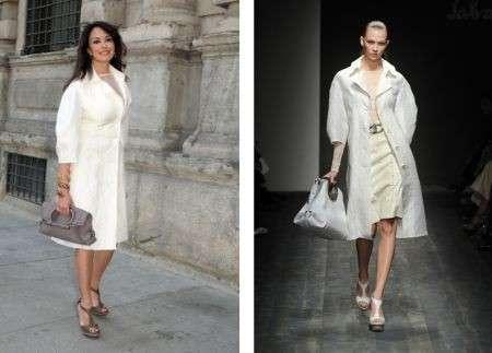 Ferragamo: il total look di Maria Grazia Cucinotta