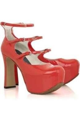Scarpe Vivienne Westwood, platform pumps rossi