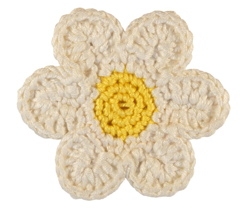 Uncinetto fiori: la margherita porta confetti
