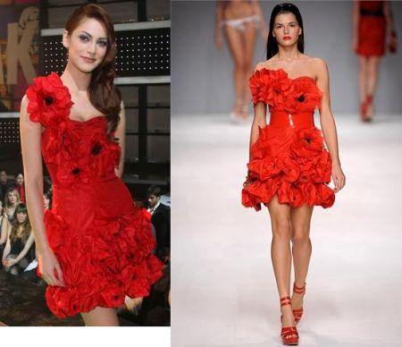 Blugirl: l'abito di Miriam Leone
