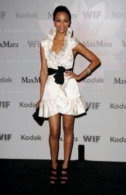 Max Mara: l'abito chic di Zoe Saldana