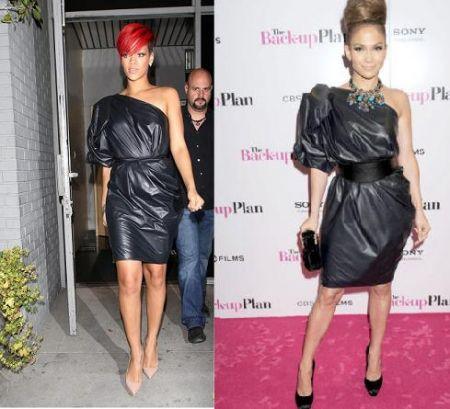 Abito monospalla di Lanvin: Rihanna o Jennifer Lopez?