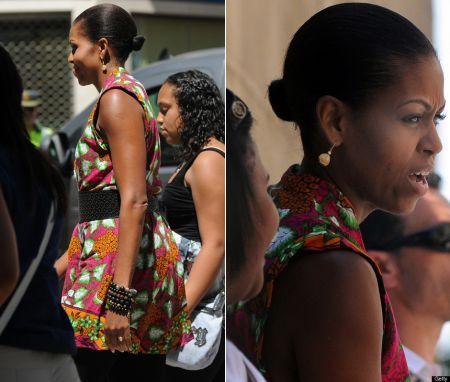 michelle obama top jean paul gaultier