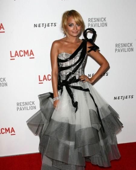Nicole Richie con un abito Marchesa quasi couture!