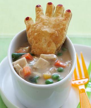 zuppa con mano