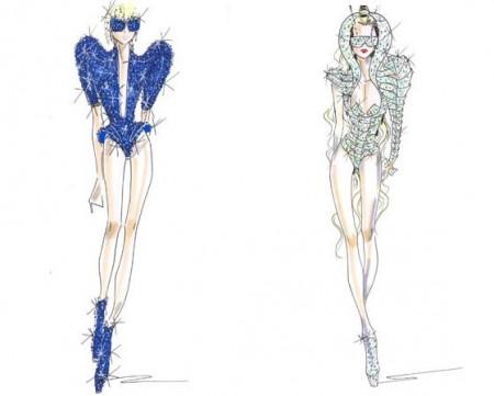 Lady Gaga abito Sketch armani