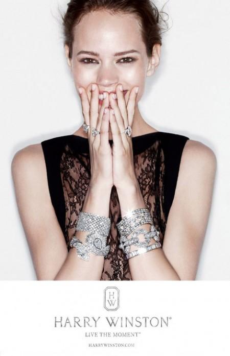 freja beha erichsen harry winston jewelry ad campaign