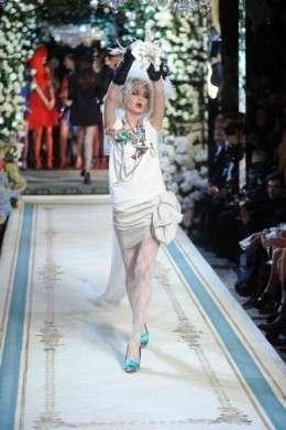 Lanvin for Hm fashion show abito bianco