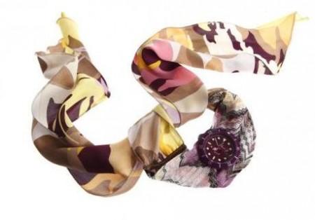 missoni orologio foulard e stoffa