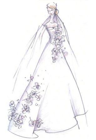 bozzetto abito sposa kate middleton