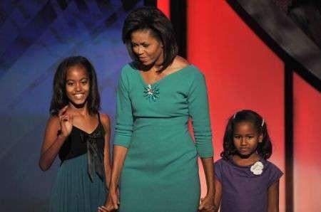 Michelle Obama con Malia e Sasha