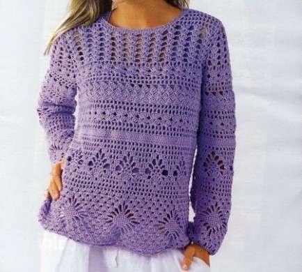 Come realizzare un leggero pullover fantasia all'uncinetto